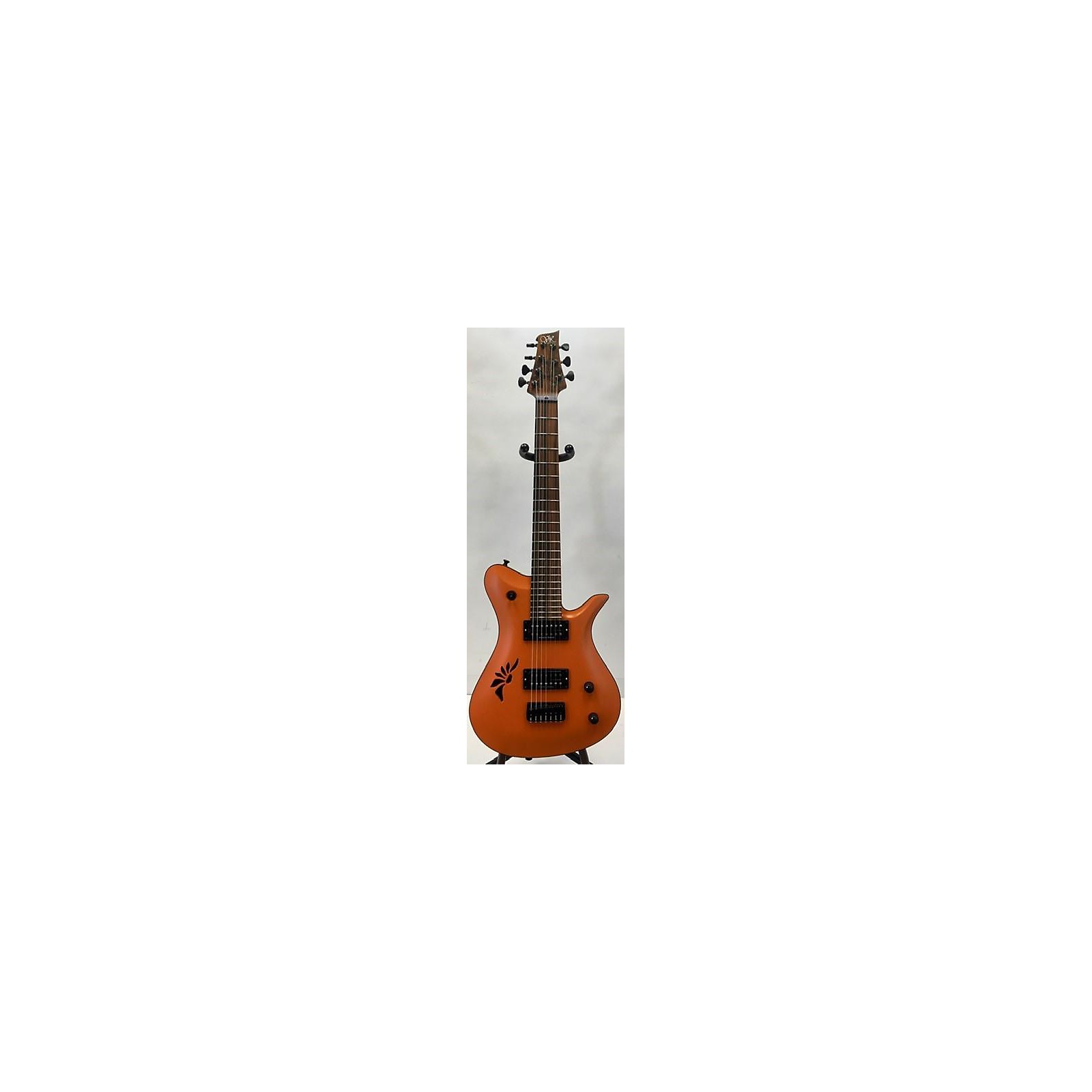In Store Used Used Vik Guitar T7 Fire Lilly Orange Solid Body Electric Guitar