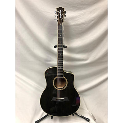 Used Willow Creek AF44SE-TB Trans Black Acoustic Electric Guitar
