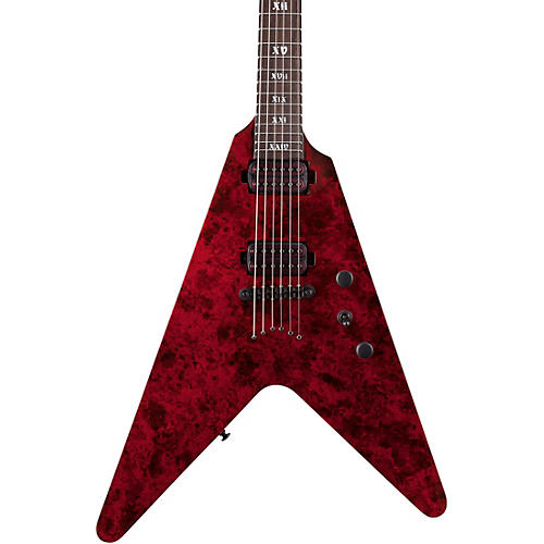 Schecter Guitar Research V-1 Apocalypse Electric Guitar Condition 1 - Mint Red Reign