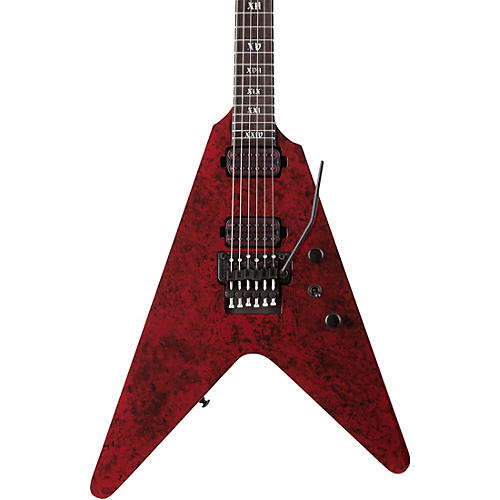 Schecter Guitar Research V-1 FR Apocalypse Electric Guitar Red Reign