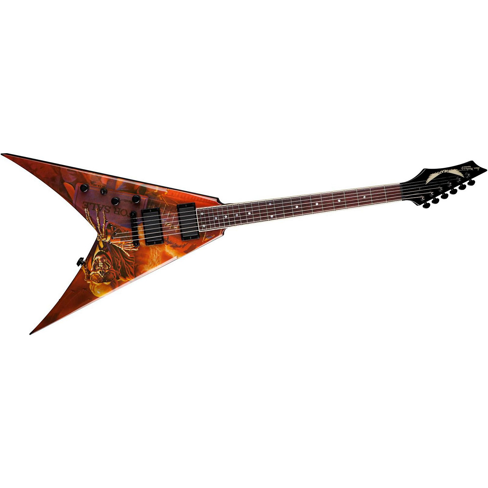 Dean V Dave Mustaine Peace Sells Left-Handed Electric Guitar