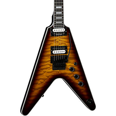 Dean V Select with Floyd Quilt Top Electric Guitar