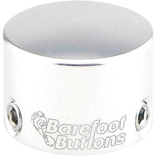 Barefoot Buttons V1 Tallboy Mini Footswitch Cap Silver
