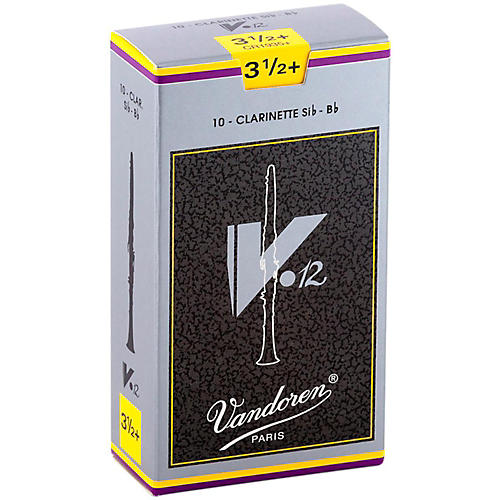 Vandoren V12 Bb Clarinet Reeds Strength 3.5+ Box of 10
