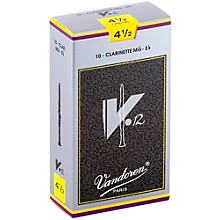 V12 Series Eb Clarinet Reeds Strength 4.5, Box of 10
