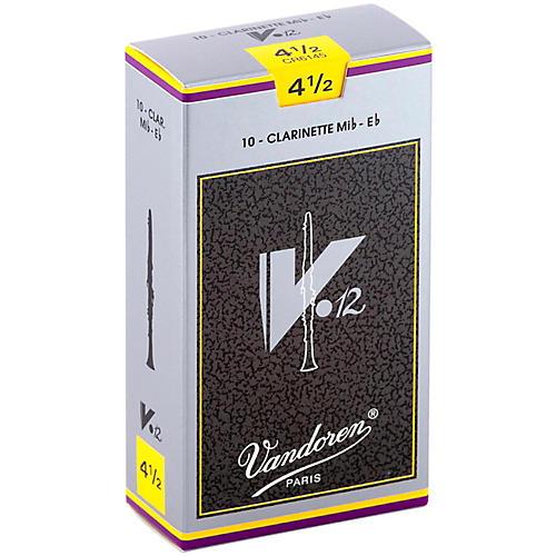 Vandoren V12 Series Eb Clarinet Reeds Strength 4.5, Box of 10