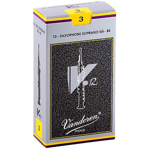 Vandoren V12 Series Soprano Saxophone Reeds Strength 3, Box of 10