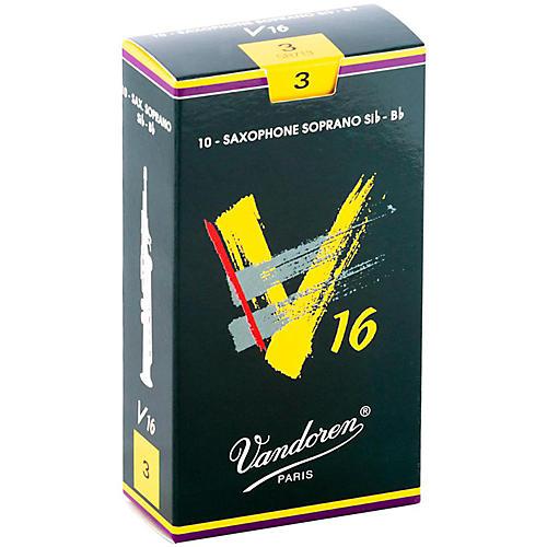 Vandoren V16 Soprano Saxophone Reeds Strength 3, Box of 10
