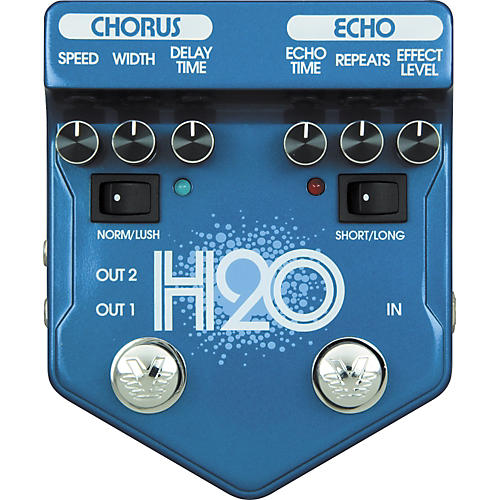 Visual Sound V2 Series V2H2O H2O Chorus and Echo Guitar Effects Pedal