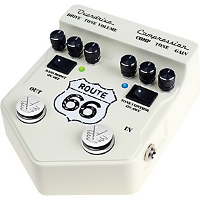 visual sound v2 series v2rt66 route 66 overdrive and compression guitar multi effects pedal. Black Bedroom Furniture Sets. Home Design Ideas