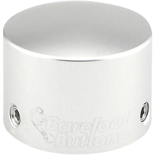 Barefoot Buttons V2 Tallboy Footswitch Cap Silver