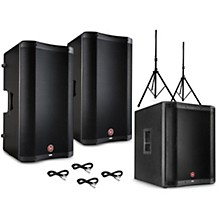 Harbinger VARI 2300 Series Powered Speakers Package with V2318S Subwoofer, Stands and Cables
