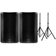 Harbinger VARI 4000 Series Powered Speakers Package with Stands
