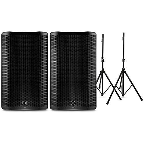 Harbinger VARI 4000 Series Powered Speakers Package with Stands 15