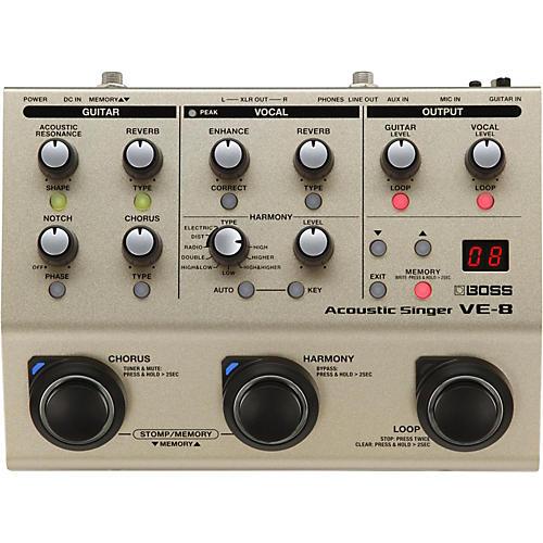 BOSS VE-8 Acoustic Singer Multi-Effects Pedal Condition 1 - Mint