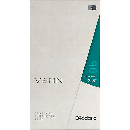 D'Addario Woodwinds VENN Bb Clarinet Reed 3.5+