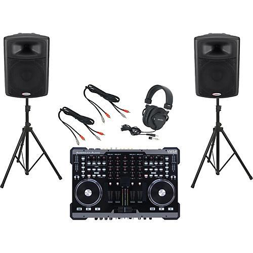 American Audio VMS4 / Harbinger APS15 DJ Package