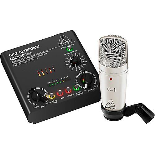 Behringer VOICE STUDIO Bundle With Studio Condenser Mic and Tube Preamplifier-USB/Audio Interface