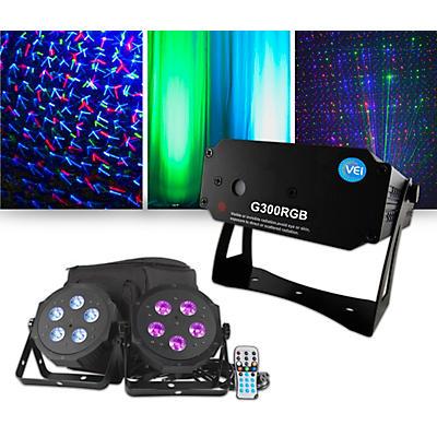 American DJ VPAR Pak Lighting Package with VEI RGB Laser