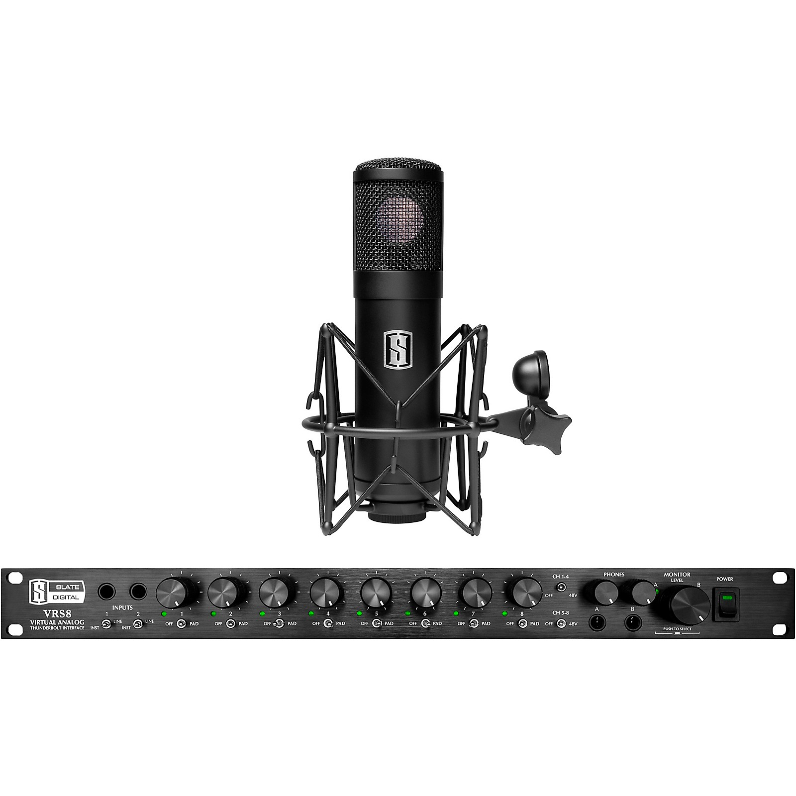 Slate Digital VRS8 Thunderbolt Audio Interface with Free ML-1 Large-Diaphragm Modeling Microphone