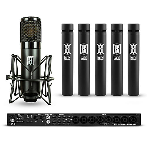 Slate Digital VRS8 with 1 ML-1 Modeling Microphone and 5 ML-2 Modeling Microphones