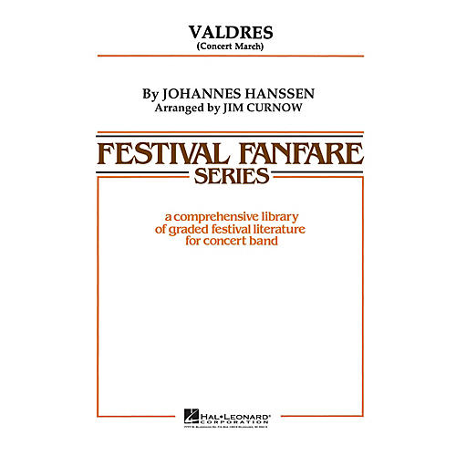 Hal Leonard Valdres - Young Concert Band Level 3 by James Curnow