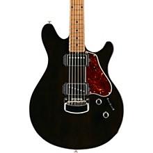 Valentine Signature Figured Roasted Maple Neck Electric Guitar Transparent Black