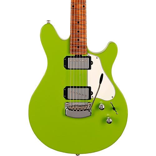 Ernie Ball Music Man Valentine Trem Electric Guitar Liberta Green