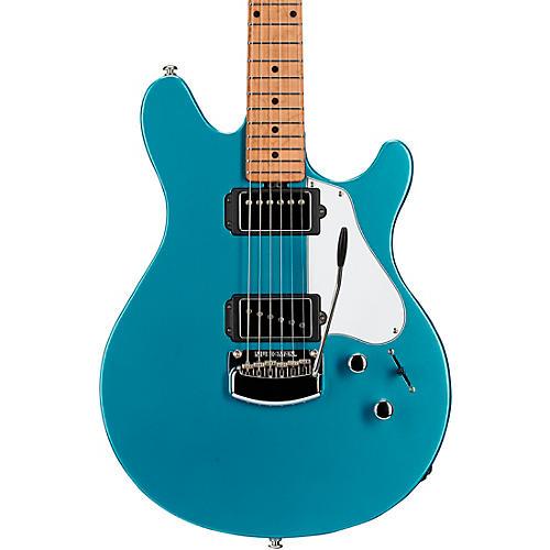 Ernie Ball Music Man Valentine Trem Electric Guitar Toluca Lake Blue