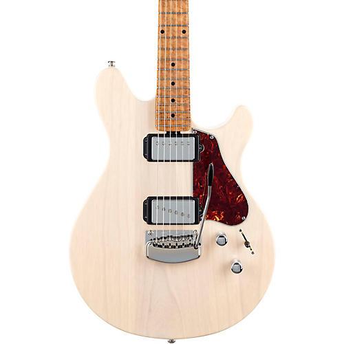 Ernie Ball Music Man Valentine Trem Electric Guitar Transparent Buttermilk