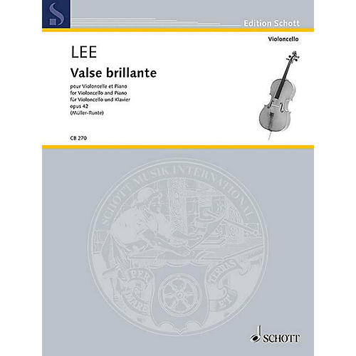Schott Valse Brillante Op. 42 (Cello and Piano) String Series Softcover