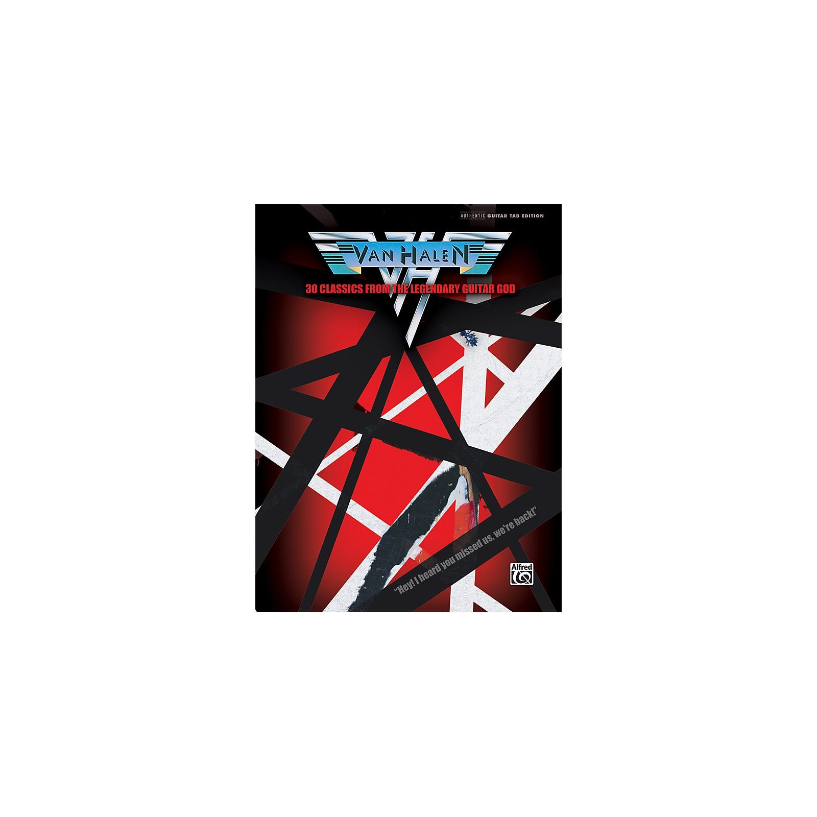 Alfred Van Halen 30 Classics from the Legendary Guitar God Guitar Tab Book