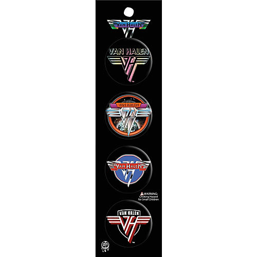 C&D Visionary Van Halen 4pcs Button Set