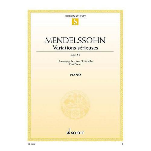 Schott Variations Sérieuses, Op. 54 Schott Series