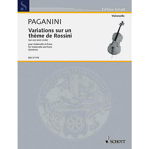Schott Variations on One String (Cello and Piano) Schott Series