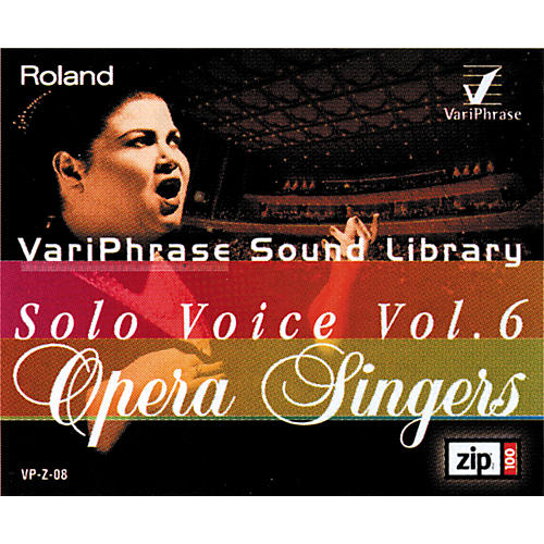 Roland Variphrase Solo Voice Vol 6 Opera Singers Zip Disk