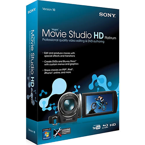 Sony Vegas Movie Studio HD Platinum 10