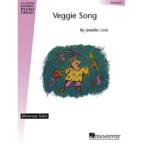 Hal Leonard Veggie Song (Showcase Solos) Piano Library Series by Jennifer Linn (Level Elem)