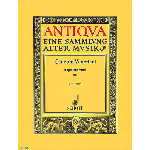 Schott Venetian Canzonas Schott Series Arranged by Helmut Mönkemeyer
