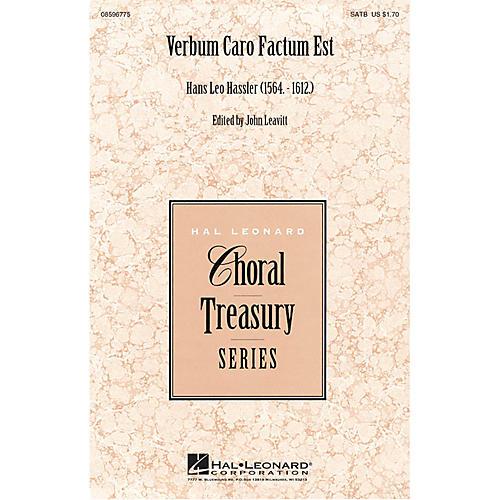 Hal Leonard Verbum Caro Factum Est SSATTB A Cappella composed by Hans Leo Hassler