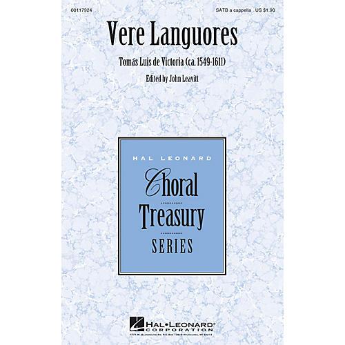 Hal Leonard Vere Languores SATB a cappella composed by Tomas Luis de Victoria