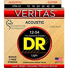 DR Strings Veritas - Perfect Pitch with Dragon Core Technology Light Acoustic Strings (12-54)