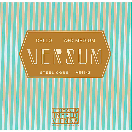 Thomastik Versum Cello A and D String Combo Pack 4/4 Size, Medium