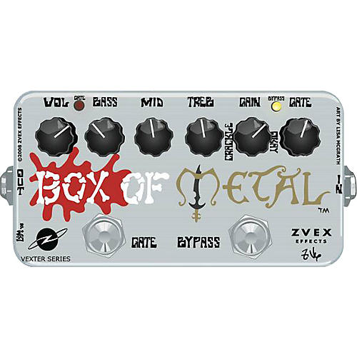 ZVex Vexter Box of Metal Distortion Guitar Effects Pedal