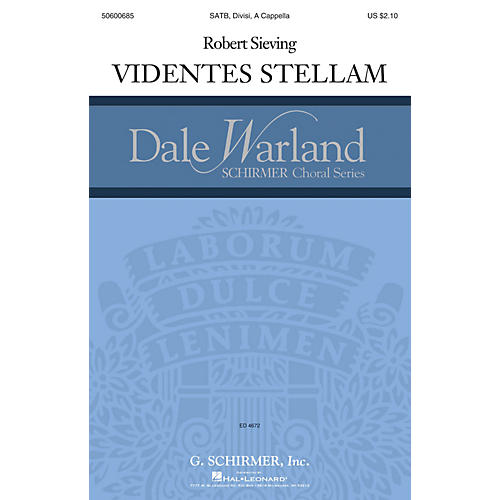 G. Schirmer Videntes stellam (Dale Warland Choral Series) SATB DV A Cappella composed by Robert Sieving