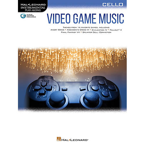 Hal Leonard Video Game Music for Cello Instrumental Play-Along Book/Audio Online