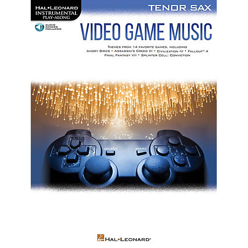 Hal Leonard Video Game Music for Tenor Sax Instrumental Play-Along Book/Audio Online