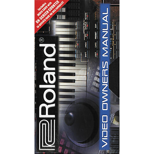 Roland Video Owner's Manual for DR-3 VHS
