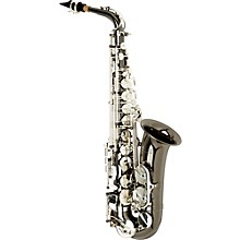 Vienna Series Intermediate Alto Saxophone AAAS-505 - Black Nickel Body - Silver Plated Keys