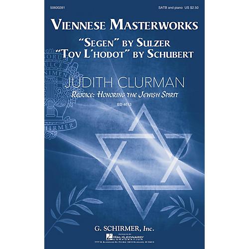 G. Schirmer Viennese Masterworks (Judith Clurman Rejoice: Honoring the Jewish Spirit Series) SATB by Franz Schubert